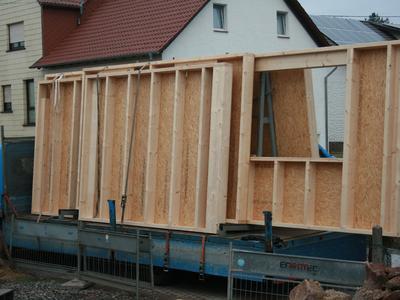 Vorbereitungen zur Erstellung eines Wohnhaus in Holzrahmenbauweise