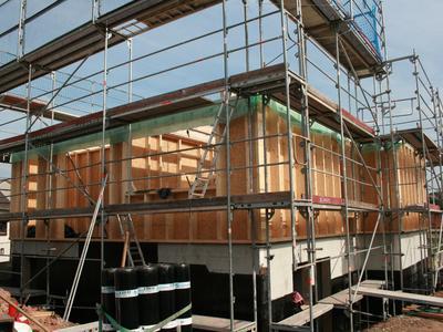 1. Etage in Holzrahmenbauweise