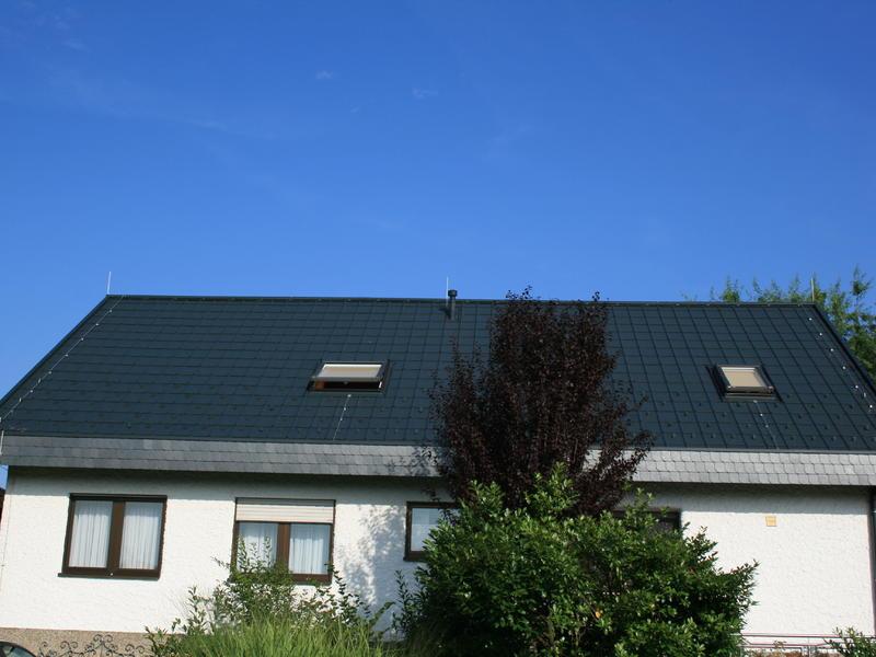 Satteldach mit Prefa Dachplatten