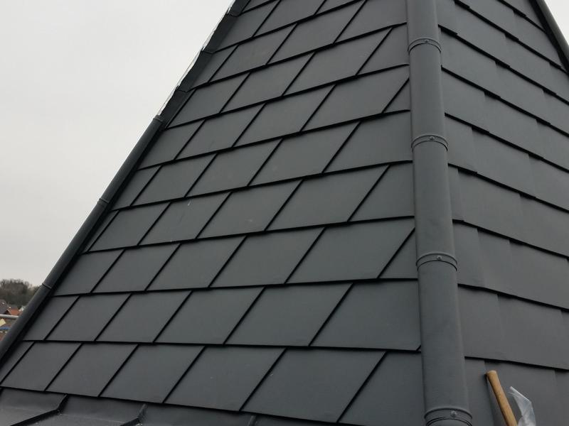 Turmspitze mit Prefa Dachschindeln